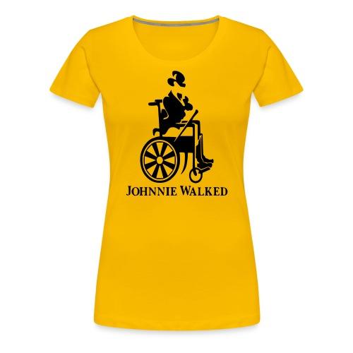 Johnnie Walked, Wheelchair fun, whiskey and roller - Women's Premium T-Shirt