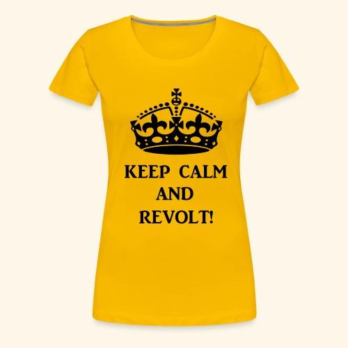 keepcalmrevoltblk - Women's Premium T-Shirt
