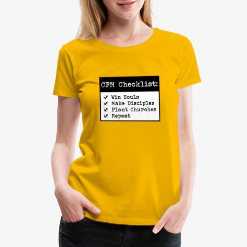 CFM Checklist - Women's Premium T-Shirt