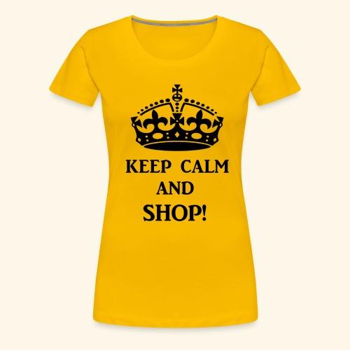 keep calm shop blk - Women's Premium T-Shirt