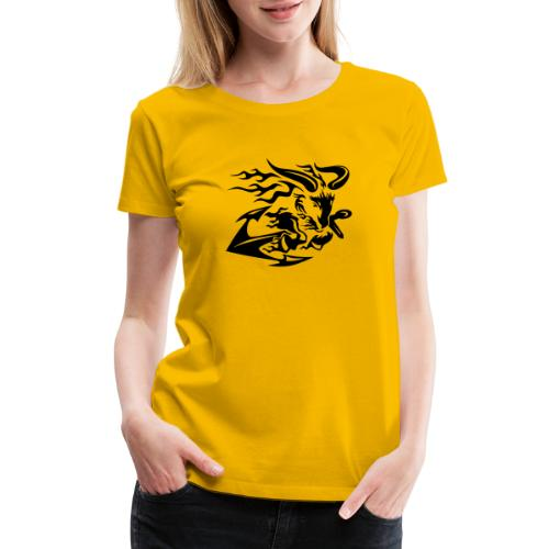 Goat with Anchor - Women's Premium T-Shirt