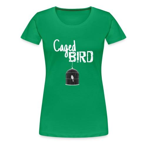 Caged Bird Abstract Design - Women's Premium T-Shirt
