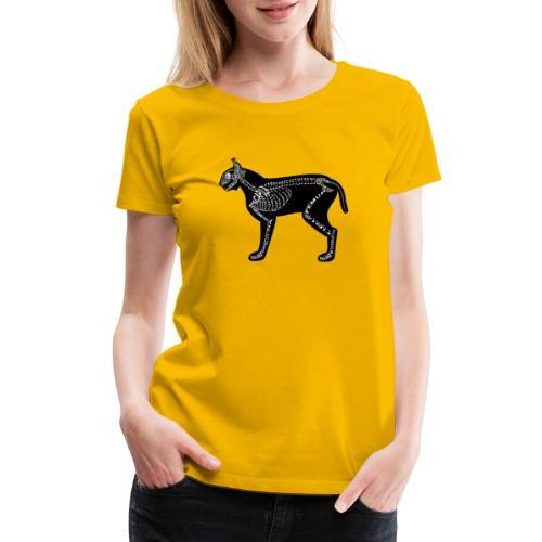 Skeleton Lynx - Women's Premium T-Shirt
