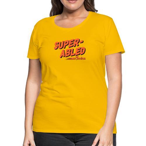 Super-Abled Comics orange + black - Women's Premium T-Shirt