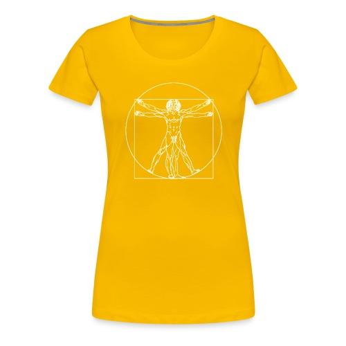 Vitruvian Man (da Vinci) - Women's Premium T-Shirt