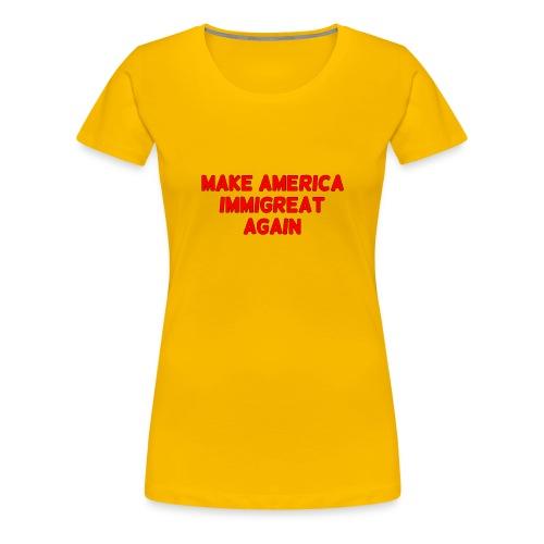 ImmiGREAT - Red - Women's Premium T-Shirt