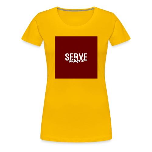 Serve Others Wallpaper - Women's Premium T-Shirt