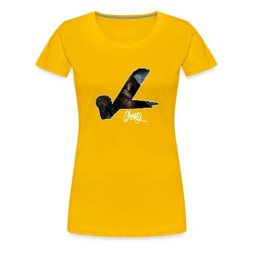 ghosty white outline - Women's Premium T-Shirt
