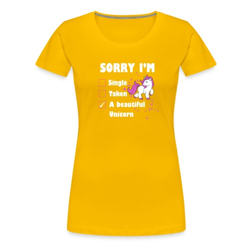 I M A BEAUTIFUL UNICORN - Women's Premium T-Shirt
