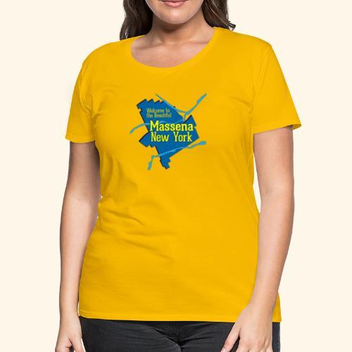 Massena NY Blue - Women's Premium T-Shirt