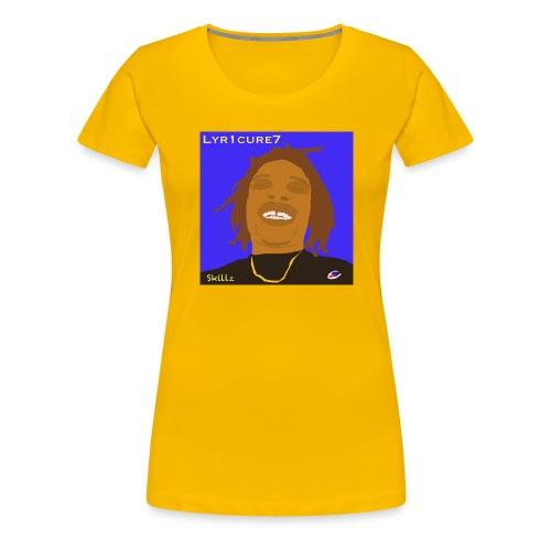 Lyr1cure7 Cartoon face Design - Women's Premium T-Shirt