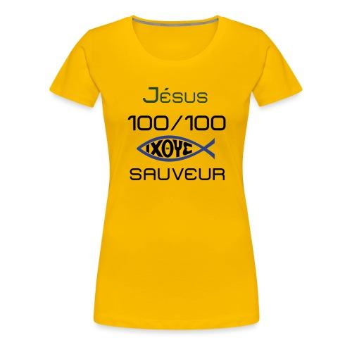 jesus100 - Women's Premium T-Shirt