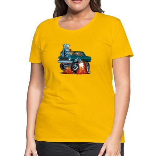 Sixties American Classic Muscle Car Cartoon - Women's Premium T-Shirt