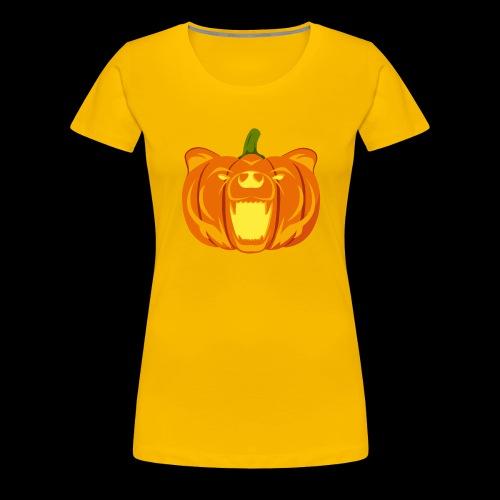 Pumpkin Bear - Women's Premium T-Shirt