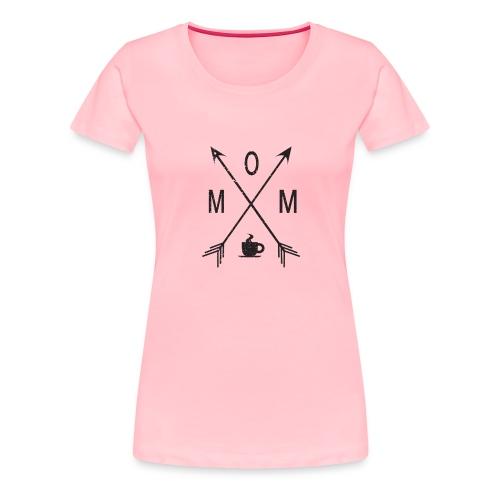 Mom Loves Coffee (black ink) - Women's Premium T-Shirt