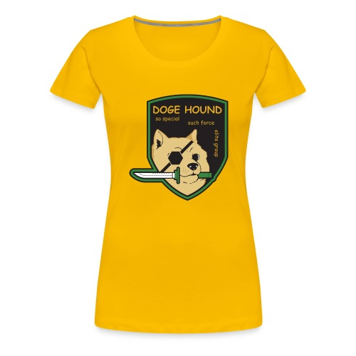 Doge Hound Metal Gear Solid - Women's Premium T-Shirt