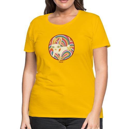 Retro White Kitty - Women's Premium T-Shirt