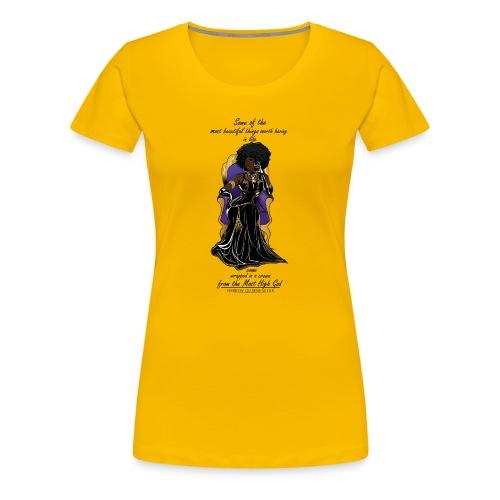 Hebrew queen readytoprint - Women's Premium T-Shirt