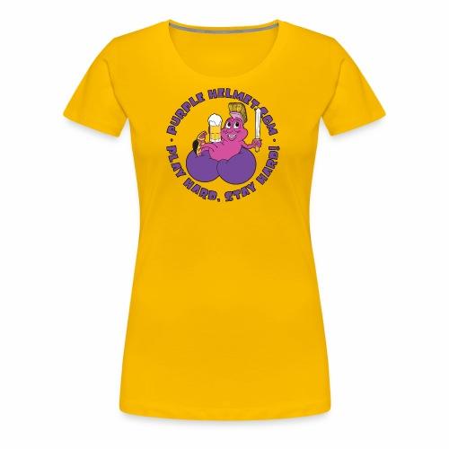 Purple Helmet Bean Bag - Women's Premium T-Shirt