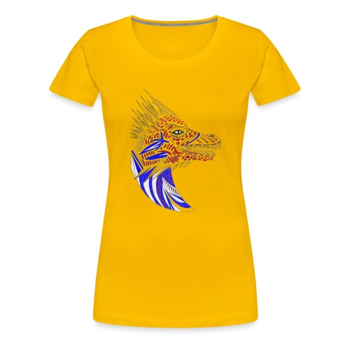 Blue dragon head - Women's Premium T-Shirt