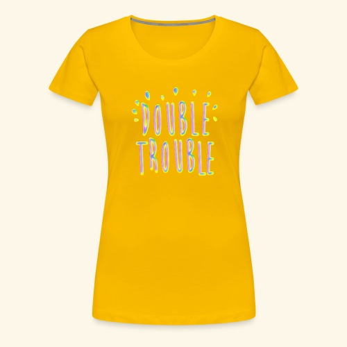 funny colorful letters design - Women's Premium T-Shirt
