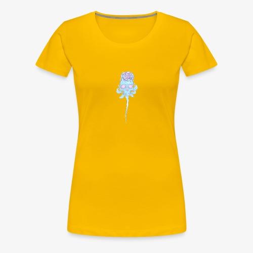 Skull rose plain - Women's Premium T-Shirt