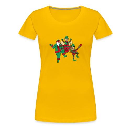 santa elves band w/ CD Music drums - Women's Premium T-Shirt