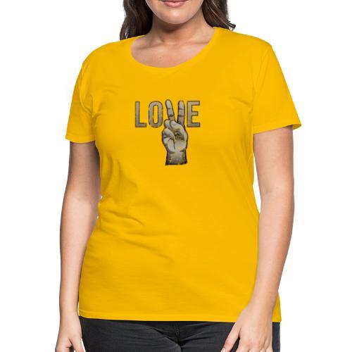 Peace Love - Women's Premium T-Shirt