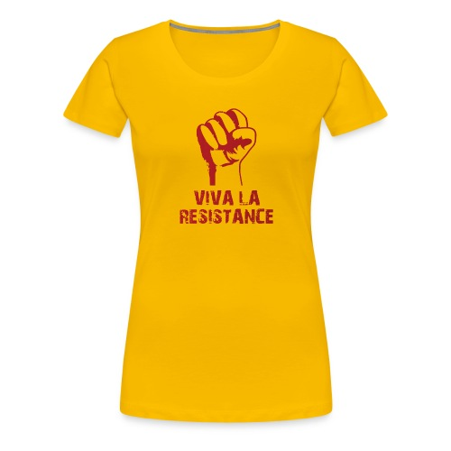 Vive La Resistance Logo - Women's Premium T-Shirt