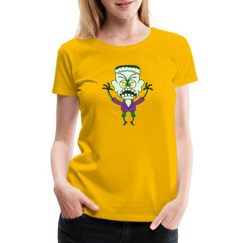 Scary Halloween Frankenstein - Women's Premium T-Shirt