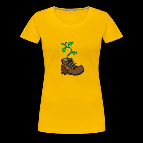 Plant In Boot - Women's Premium T-Shirt
