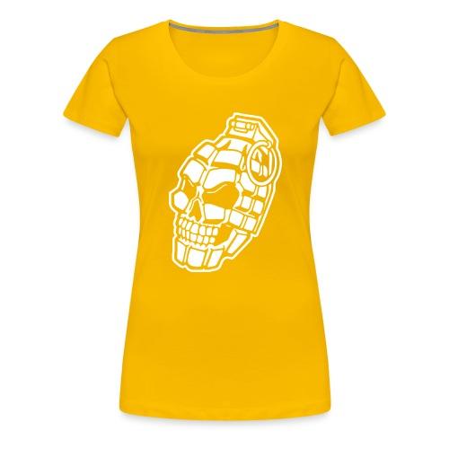 Skull Grenade - Women's Premium T-Shirt