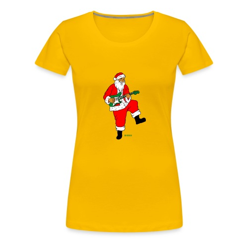 santa clause guitar - Women's Premium T-Shirt