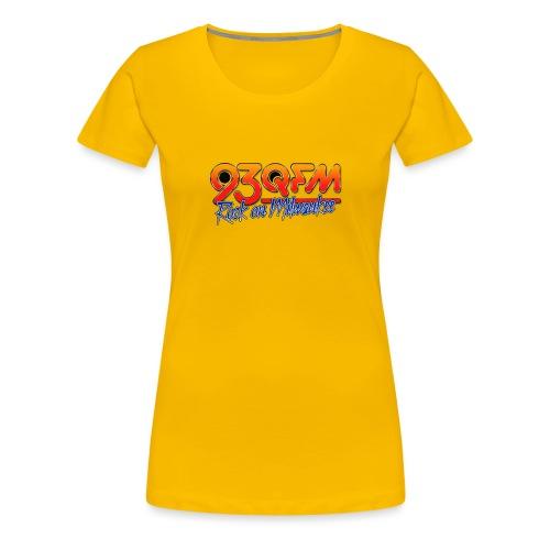 93QFM Retro 80s Logo - Women's Premium T-Shirt