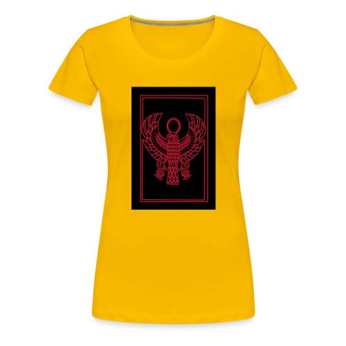Heru- Horus (Ancient Mystery School KMT) - Women's Premium T-Shirt