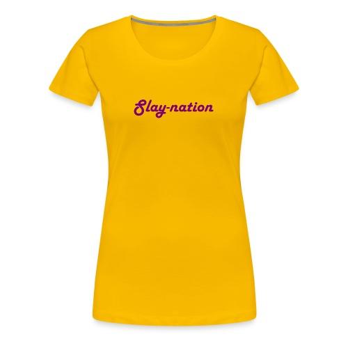 purple slay nation - Women's Premium T-Shirt