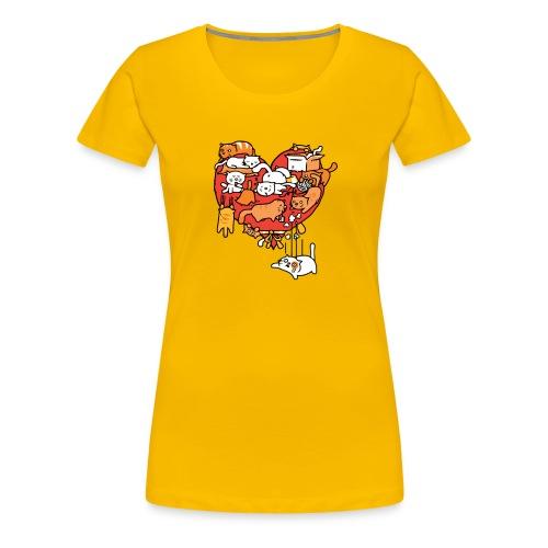 Catlentine s Day - Women's Premium T-Shirt