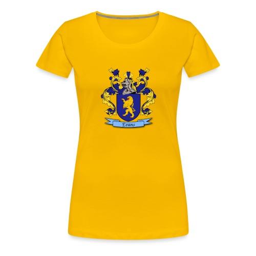 Evans Family Crest - Women's Premium T-Shirt