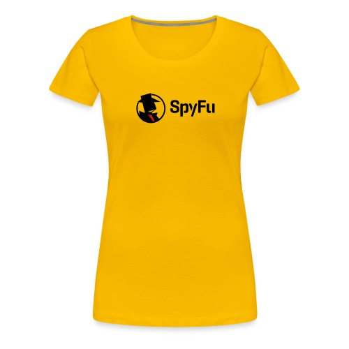 SpyFu Logo black - Women's Premium T-Shirt