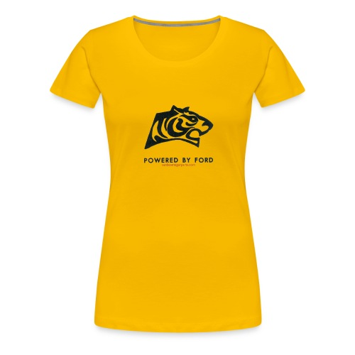 tiger head logo with web png - Women's Premium T-Shirt