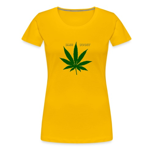 Bass Boost 420 Weed Leaf - Women's Premium T-Shirt