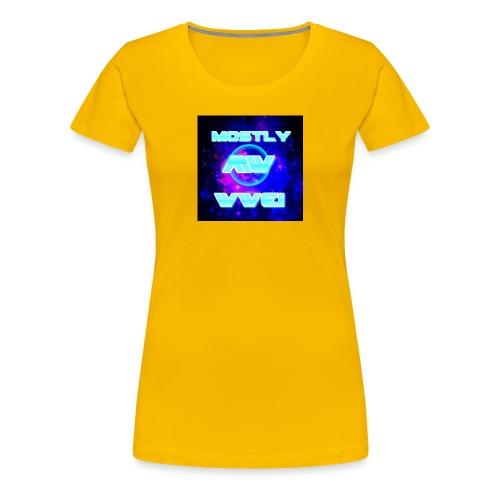 mostly wwe! space logo - Women's Premium T-Shirt