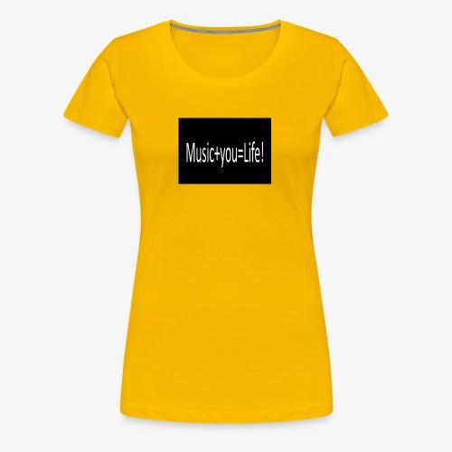 Music+you=Life - Women's Premium T-Shirt