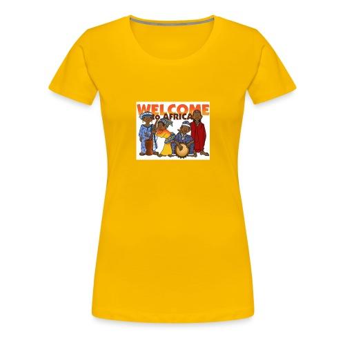 african welcome you - Women's Premium T-Shirt