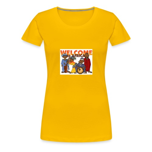 african welcome you - Women's Premium T-Shirt