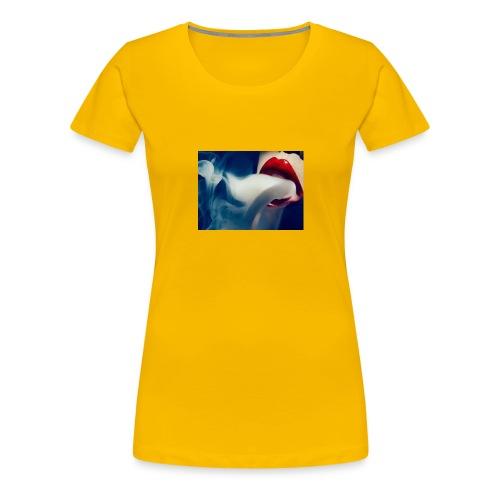 smoking woman 2 - Women's Premium T-Shirt