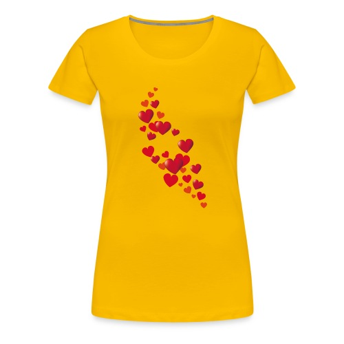 Heart flower - Women's Premium T-Shirt