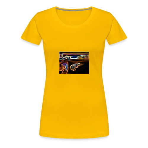 Melted Neon Dali - Women's Premium T-Shirt