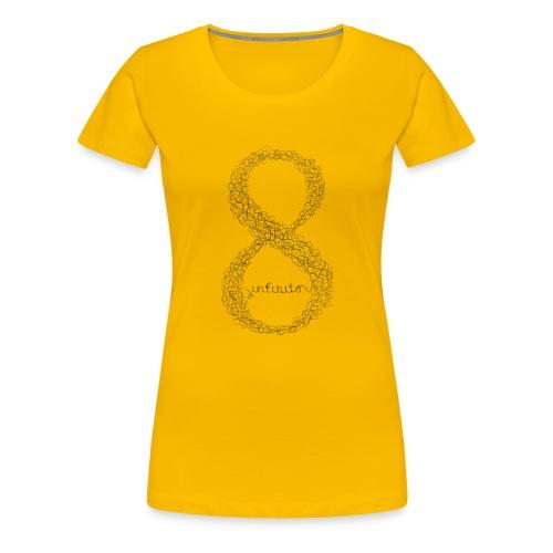 8 infinito line black - Women's Premium T-Shirt
