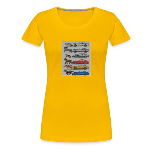 Cars with real animal logo - Women's Premium T-Shirt